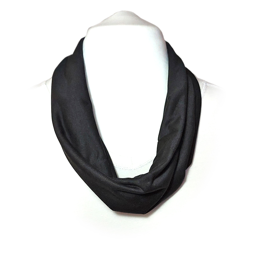 Scarf with built in mask - black