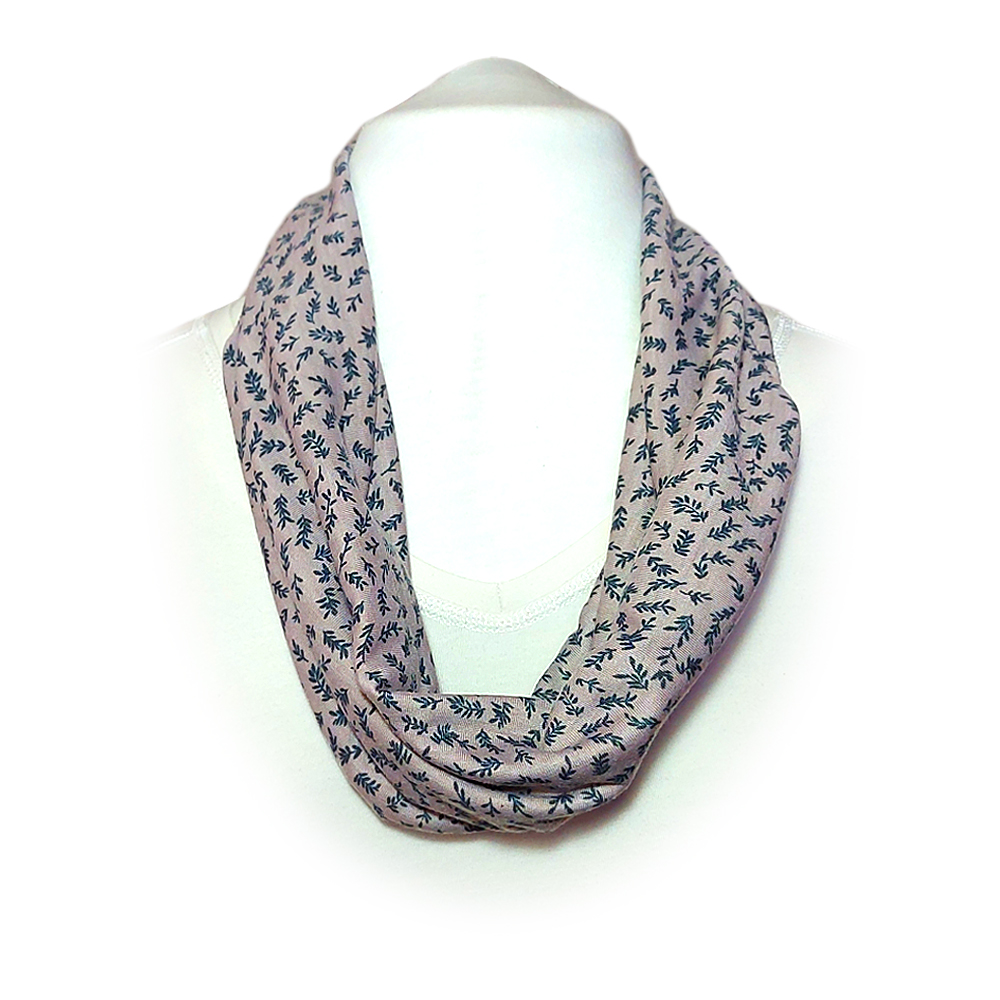 Scarf with built in mask - Purple grey